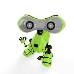 "Robot says - ""hello"""