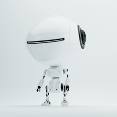 Irobot - futuristic lovely cyber toy with moneybox