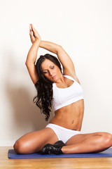 Picture of cute sexy sportswoman