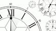 Clocks Antique Style Dials Mono HD