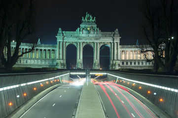 Brussels - Triumphal arch by night