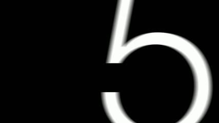 Graphic Countdown Flickering Mono HD