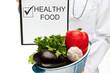 Doctor advising healthy food
