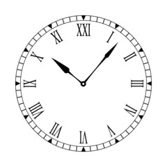 Roman clean clock face