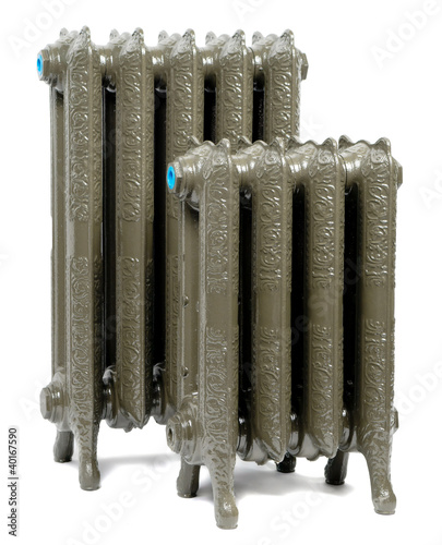 Two cast iron radiator for home