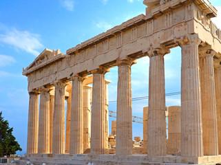Parthenon in Acropolis in Greece