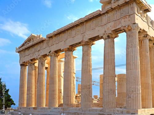 Staande foto Athene Parthenon in Acropolis in Greece