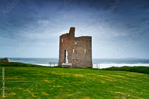 Ruins of Ballybunion castle on the coast, Ireland
