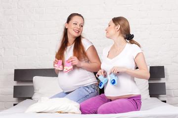Two pregnant girlfriend