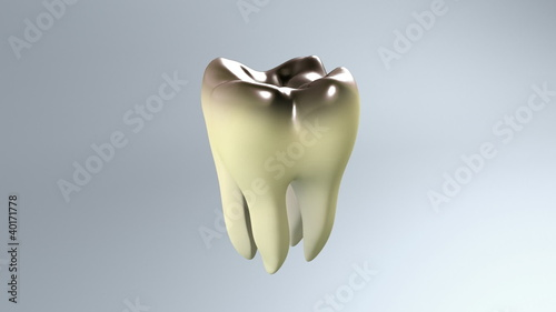 bad tooth white background