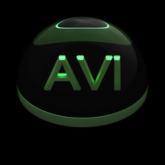 3D Style file format icon - AVI