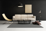 Modern contemporary living room, lounge furniture
