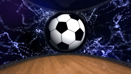 Football Ball in Monitor - HD1080