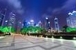 night scene in shanghai financial center