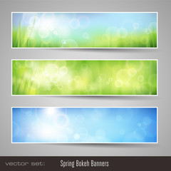 soft nature bokeh banners