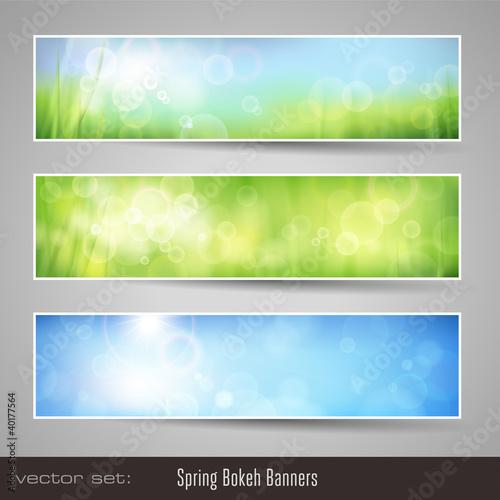 soft nature bokeh banners