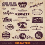 vintage quality and service labels