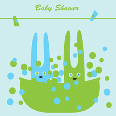 Bunnies in the bath