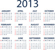 Simple full editable 2013 vector calendar - weeks start Sunday