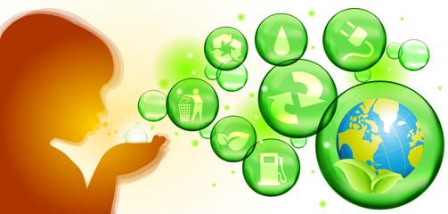 Soffio di energia verde