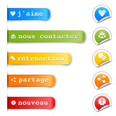 etiquettes & boutons web