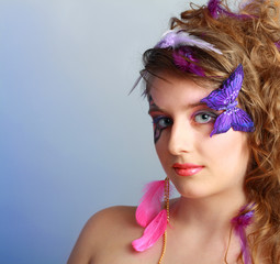 Young model beauty women