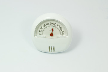 Dial of instrument for measuring humidity, isolated