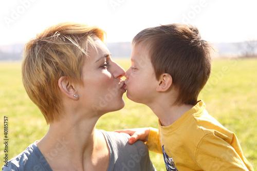 Küsschen für die Mama