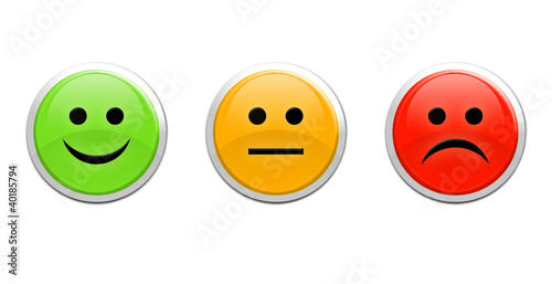 canvas print picture Smile / frown buttons for website
