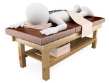 Fototapety 3D woman receiving hot stone massage