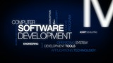 Computer Software Development Programming tag cloud animation