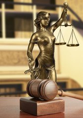 Gavel and Lady of Justice