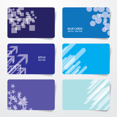 Blue cards eps10