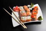 Fototapety Japanese sushi seafood