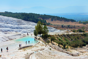 Pamukkale, Turkey, top view