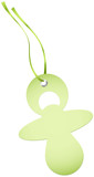 Hangtags Green Pacifier Green Bow
