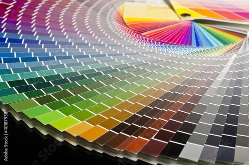 canvas print picture Druckerei Farbfächer