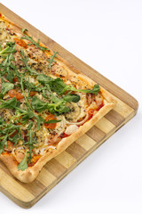 EDZR - Cheese, banana, ham, onion and arugula Pizza