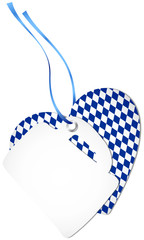 Hangtag Beer Glass & Heart Octoberfest Dark Blue
