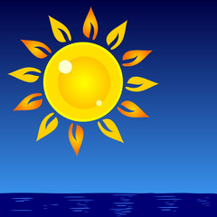 sun and sea vector background