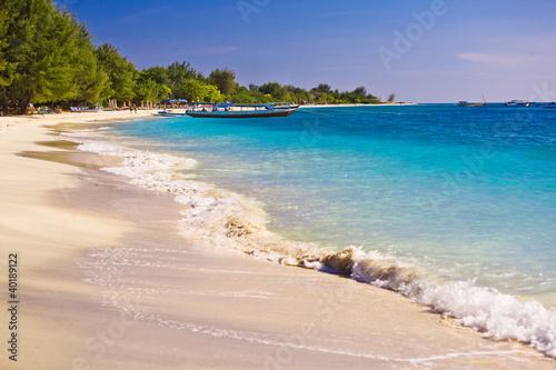 Summertime at the beach. Travangan gili.
