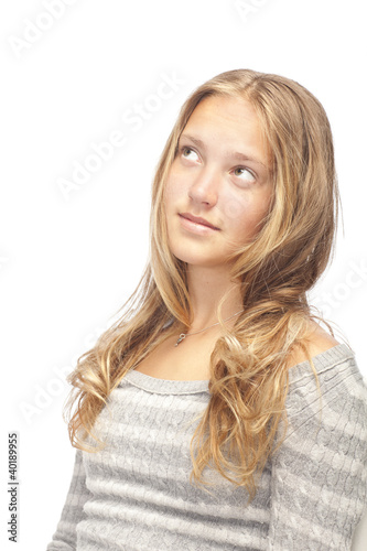 young smiling blond girl