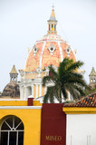 rooftop view Iglesia de Santo Domingo Cartagena Colombia South A poster