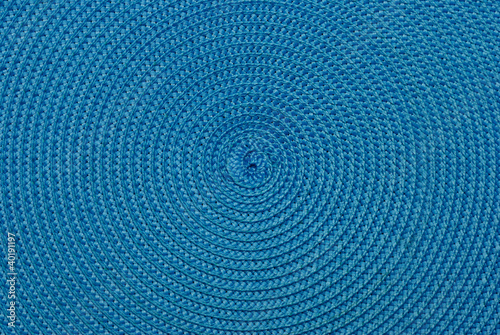 Close-up of blue synthetic fabric.