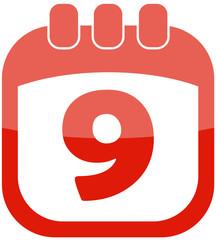 Icon 9 calendar