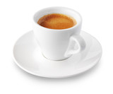 Fototapety coffee cup on white background