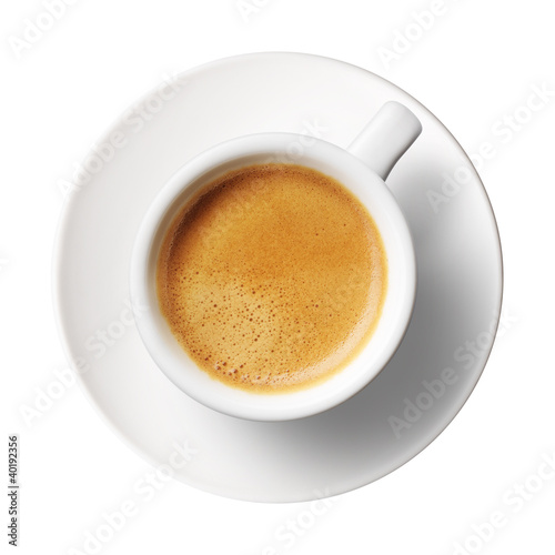 Foto op Canvas Koffie coffee cup on white background