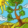 albero in campagna