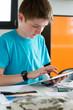Devoir et tablette numérique