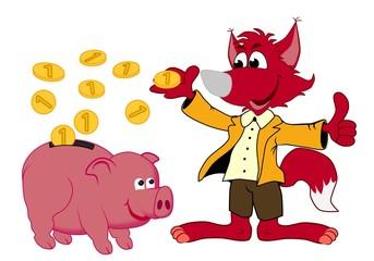 jeder schlaue Fuchs hat ein Sparschwein